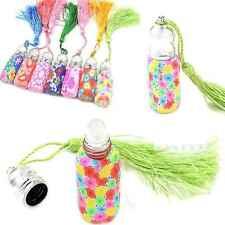 6ml Tassels Empty Glass Perfume Essential Oil Bottle Roll On Roller Random Color