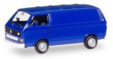 Volkswagen T3 fourgon bleu marine - Herpa - Echelle 1/87 - HO