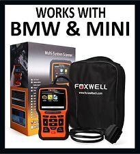 For BMW MINI DIAGNOSTIC SCANNER TOOL ABS SRS AIRBAG CODE READER FOXWELL NT510