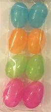 8 x Easter Plastic Filler Eggs - Egg Hunt, Hollow Coloured Eggs for Chocolates