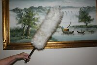 Lambswool car cleaning duster in white/brown tipping colour 16mm diameter 60cm
