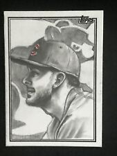 2018 Topps Series 2 Kris Bryant Sketch Card 1/1 Cubs Artist Gerry Garcia
