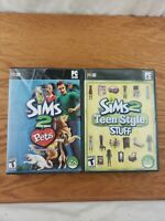 Pc Gaming, Bundle of 2, The Sims 2, Teen Style Stuff & The Sims 2 Pets Expansion
