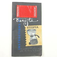 Starbucks Coffee Barista Utopia Brewing System Instruction Booklet Manual J6
