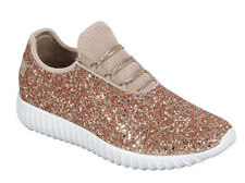 Women Cute Sequin Glitter Sneakers Lightweight Trainer Shoes Walking Athletic