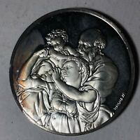 The Doni Tondo, The Genius of Michelangelo 1.26oz Sterling Silver Medal