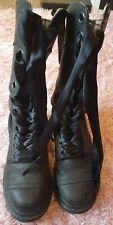 Dr Martens Triumph Amilita black leather boots tartan lining uk5 ribbon laces