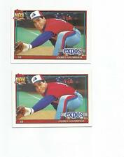 1991 Topps Glow Back Andres Galarraga W/ Border Error Glow Back Rare 2 Cards