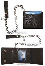 Biker's Chain wallet. Leather Trifold wallet, Motorcycle Trucker Biker wallet BN