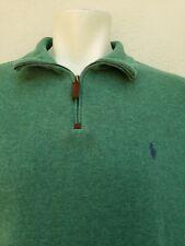 Polo Ralph Lauren Mens Size XL Pullover 1/4 Zip, L/S,Green Fleece Pony Logo