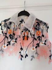 Unbranded Snidel Approx 10 Sheer Ladies Blouse White Orange Navy 34 bust
