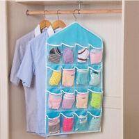 16 Pockets Door Wardrobe Hanging Organizer Bag Shoe Rack Hanger Closet Storage
