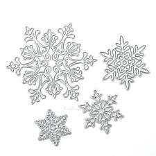 4pc Christmas Snowflake Metal Cutting Die DIY Stencil Scrapbook Album Card Decor