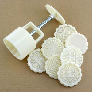 Moon Cake Mold Hand Pressure Mold Baking Mold+1 Printing Dessert Plate Tool HOT