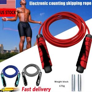 Skipping Rope Heavy Adjustable Weighted Gym Weighted Jump Adult Speed Exercise