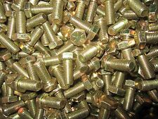 (400) 3/8-24 x 1 Fine Hex Head Cap Screws Grade 8 Zinc Yellow 100 Pieces