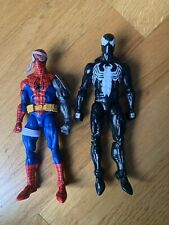 marvel legends lot spiderman cyborg and symbiote custom
