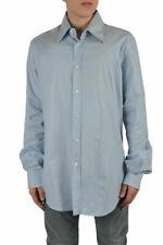 Dolce & Gabbana Men's Blue Dress Shirts US 17.5 IT 44