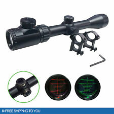 Rifle Scope Mil-Dot Illuminated Red & Green 3-9X40 E Optics Hunting Air Sniper