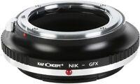 K&F Concept Lens Mount Adapter for Nikon AI, AI Mount Lens to Fuji GFX Camera