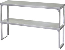 New 72x16 Double Over Shelf 430 Stainless Steel Top 18 Gauge Legs Nsf #6169