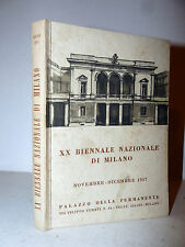 Catalogo Illustrato XX Biennale Nazionale Milano 1957 Fontana Rho Ghisleni Arte