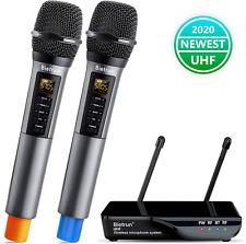Wireless Microphone W Echo Treble Bass Bluetooth UHF Portable Dual Handheld Gift