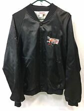 Vintage Trucker Hipster Mens Coat Coaches Jacket Satin FORD Embroidered USA Made