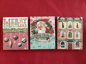 Punch Studio/Molly & Rex Set of 3 Retro Christmas Pocket Notepads-New