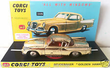 Vintage CORGI TOYS 211s STUDEBAKER GOLDEN HAWK Diecast Model & Custom Display [2