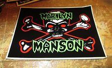 MARILYN MANSON STICKER COLLECTiBLE RARE VINTAGE 90'S METAL LIVE DANZIG