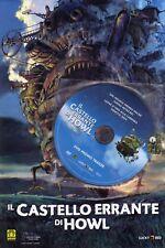 DVD PROMO-IL CASTELLO ERRANTE DI HOWL--UN FILM DI HAYAO MIYAZAKY-NUOVO BROCHURE
