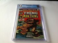 MARVEL TWO IN ONE 1 CGC 9.4 WHITE PAGES THING MAN THING GIL KANE MARVEL COMICS