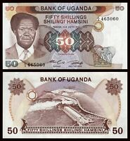 Uganda 50 Shillings 1985 Pick 20 NEW-UNC