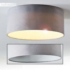 LED Deckenleuchte Design Stoff  grau Küchen Flur Zimmer Decken Lampen 14 Watt
