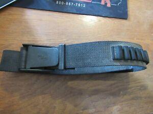 """Uncle Mike's 2"""" Black Nylon Belt w/ Cartridge Loops & Buckle 40""""+ Shooting Belt"""