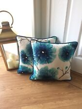 "HARLEQUIN ""KABALA"" PIPED CUSHION COVER LAGOON 16""x16"""