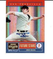 2011 Playoff Contenders Future Stars Autographs #14 Josh Osich Giants # 053/199