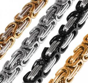 Königskette Halskette Set Armband Edelstahl gold silber schwarz lange Kette