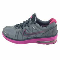 Nike Womens LunarMX+ FlyWire 415323 601 Athletic Running Gray Pink Shoes Sz 7.5