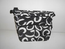 "Baby Innovation Diaper Bag Black & White 14"" x 13"" Tote Style W/Shoulder Strap"