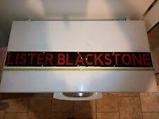 More details for lister blackstone engine sign/plaque