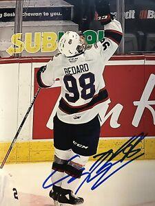 CONNOR BEDARD SIGNED REGINA PATS 8X10 PHOTO 2023 TOP NHL PROSPECT PROOF & COA