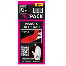 BG Model P9 Pro Pack for Piano (Keyboard Cover and Microfiber Glove)