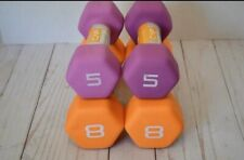 ✅New CAP Neoprene Hand Weights Dumbbells Set of 5lb And 8lb Pairs !FASTFREESHIP!