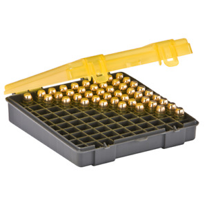 Plano 100 Count Handgun Ammunition Field Case 100/RD 40/10MM Gray/Amber 122700