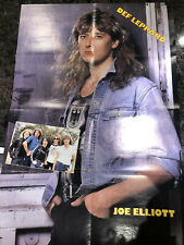 Huge Rock Poster Fold Out Joe Elliott Def Leppard Reverse Bret Micheals