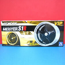 Aoshima 1/24 19 inch WORK [Meister S1R] wheel & tire model kit #009079