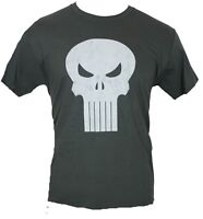 Punisher (Marvel Comics) Mens T-Shirt - Classic Drop Skull Distressed Logo