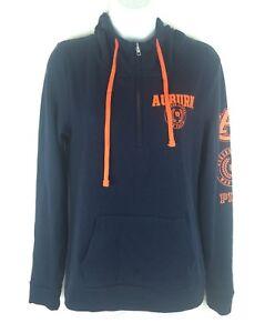 NEW Victoria Secret Womens Auburn Tigers AU Lightweight Hoodie Top Shirt Sz S